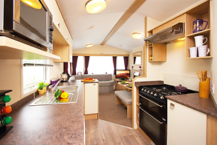 One of our three-star caravans.