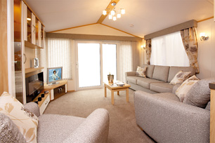 One of our five-star caravans.