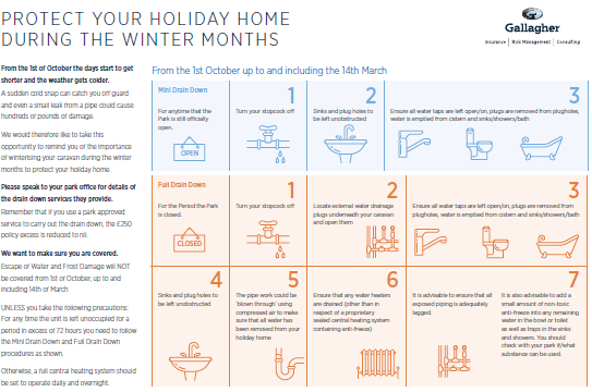 Holiday Home winter information