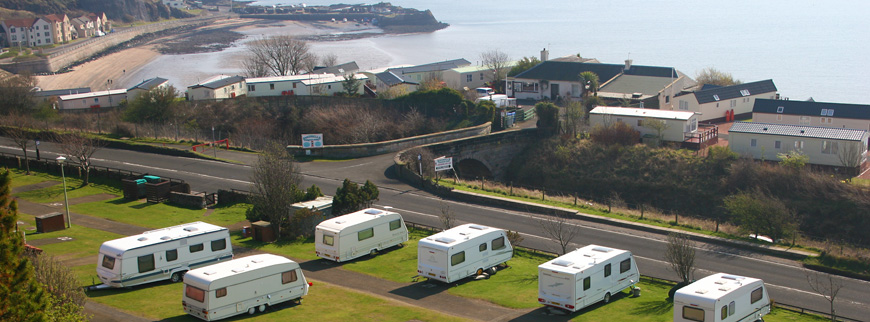 Pettycur Bay campsite and touring caravan area